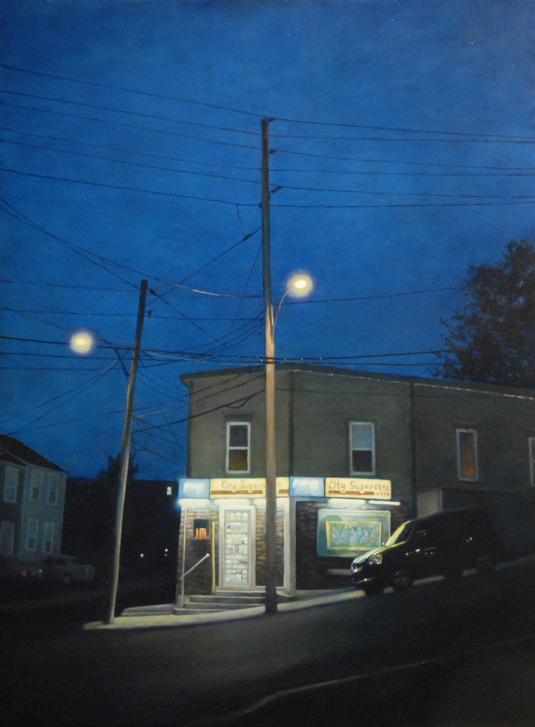 'City Superette', 36x48, oil on board