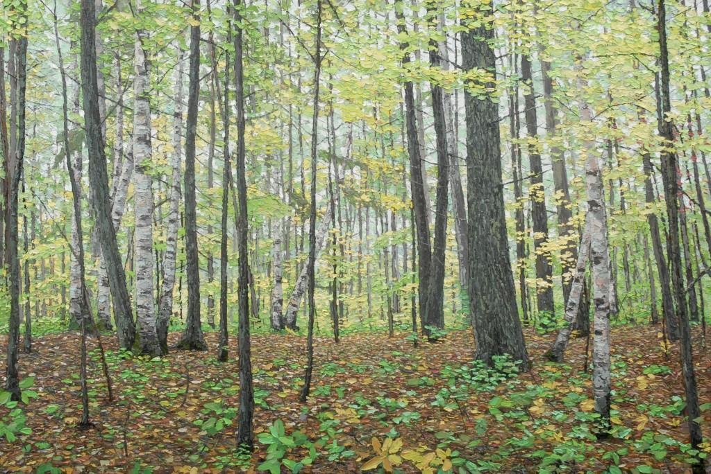 Parkland oil painting