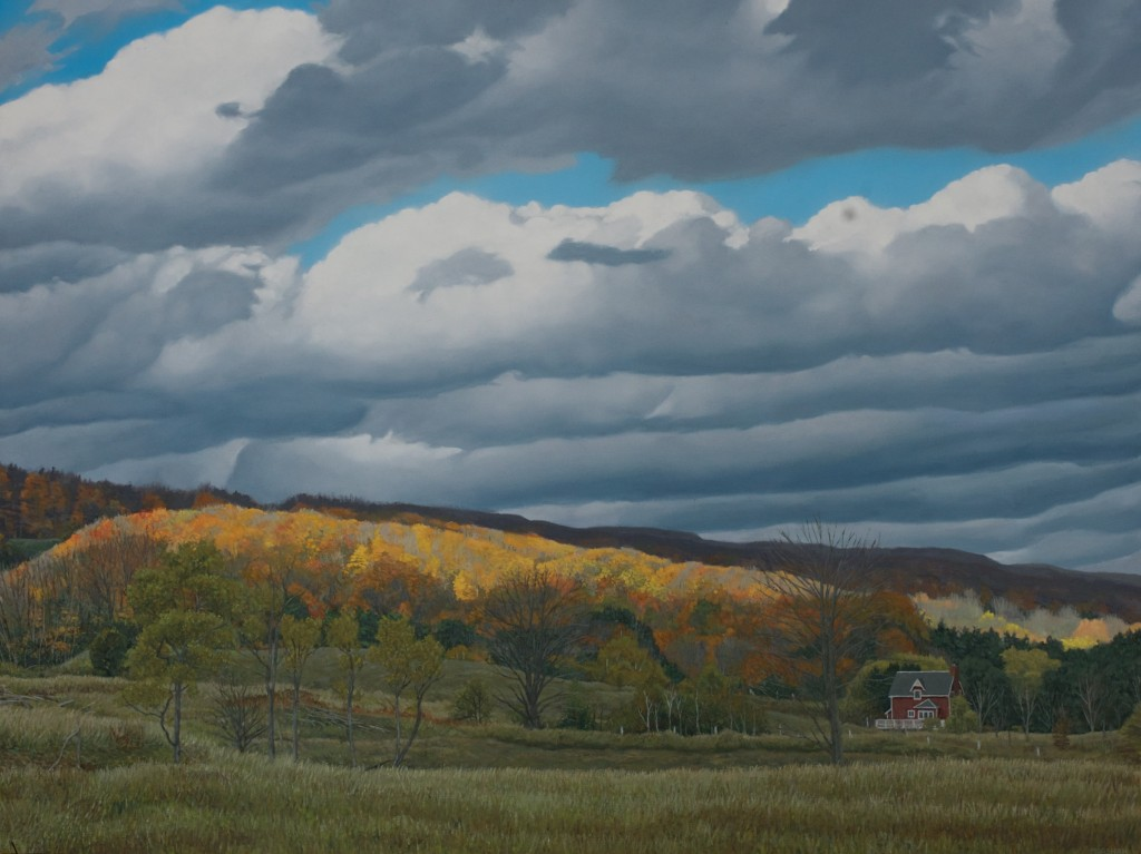 oil painting on board, 'Bowles Bluffs Rd.'