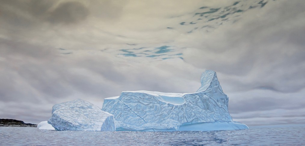 iceberg painting by Canadian landscape painter
