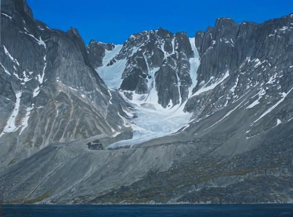 Glacier approaching Kangerlussuaq